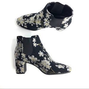 Anne Klein Embroidered  Ankle Bootie Size 7 1/2